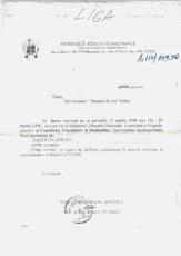 Fax cerere - Dinu Gîndu - 1998