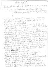 Proces verbal CNLSR - arhivă Dinu Gîndu